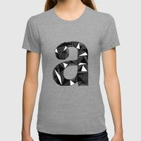 A is for Womens Fitted Tee Tri-Grey SMALL