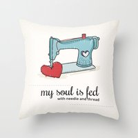 Sewing Lovers Throw Pillow