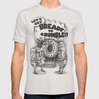 Let's Get Bready to Crumble Mens Fitted Tee Silver SMALL