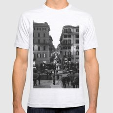 Rain in Rome Mens Fitted Tee Ash Grey SMALL