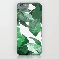 iPhone Cases featuring Tropical Palm Print by Tamsin Lucie