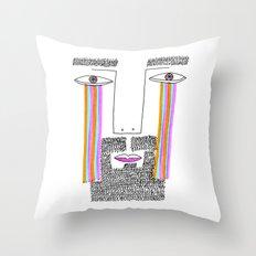 Rainbow Tears Throw Pillow
