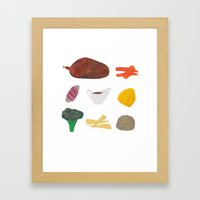Roast Dinner Framed Art Print
