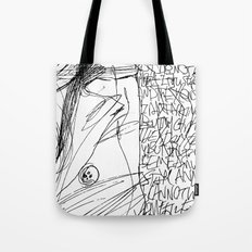 Line and Words - 2 Tote Bag