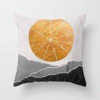 Shattered Sun Throw Pillow