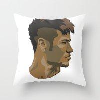 Neymar Throw Pillow