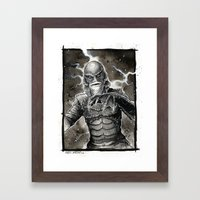 Creature From The Black … Framed Art Print