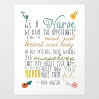 As a Nurse... Art Print