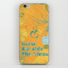 Color Outside The Lines iPhone & iPod Skin