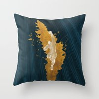 Feed The Tiger (Homage To Sagat) Throw Pillow