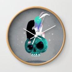Girl and Skull Wall Clock