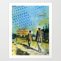 native Art Prints featuring Native by MATEO