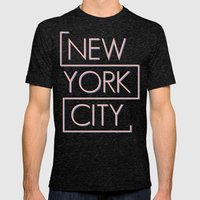 NEW YORK CITY Mens Fitted Tee Tri-Black SMALL