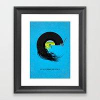 E Is For Empire Records Framed Art Print