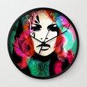 colorful hair Wall Clock