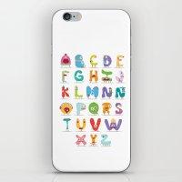 Monster alphabet iPhone & iPod Skin