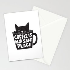 coffee is my safe place Stationery Cards