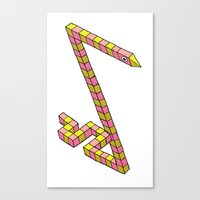Snake Illusion Canvas Print