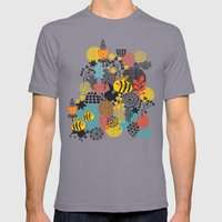 The bee. Mens Fitted Tee Slate SMALL