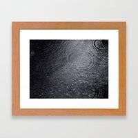 Dark Rain. Framed Art Print