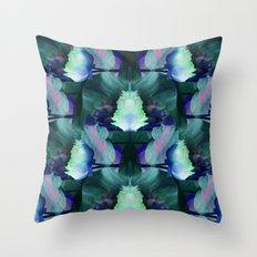 Oceans of Lotus Zen Throw Pillow