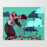 I ate your guts! Canvas Print