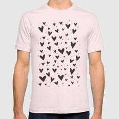 Heart Attack Mens Fitted Tee Light Pink SMALL