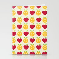 Apple And Orange - Love … Stationery Cards