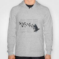 Vintage Style Print with Poem Text Edgar Alan Poe: Edgar Alan Crow Hoody