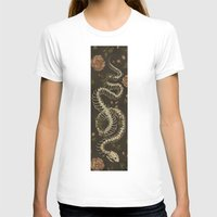 skeleton T-shirts featuring Snake Skeleton by Jessica Roux