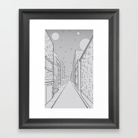 Cosmos City Framed Art Print