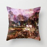 Double Exposure Art Throw Pillow