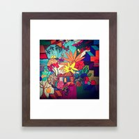 Flowers and colors Framed Art Print