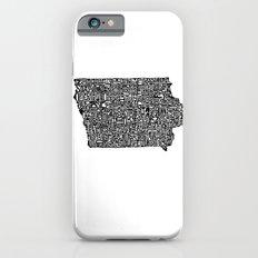 Typographic Iowa Slim Case iPhone 6s