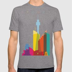 Shapes of Sydney. Accurate to scale Mens Fitted Tee Tri-Grey SMALL