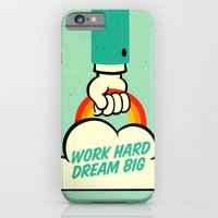 iPhone Cases featuring Work Hard. Dream Big. by Derek Eads