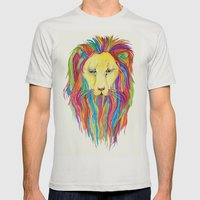 Dandy Lion Mens Fitted Tee Silver SMALL