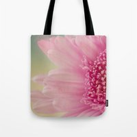 Pink bursts, Floral Macro Photography Tote Bag