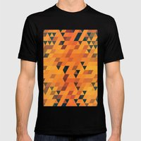Gold Pattern Mens Fitted Tee Black SMALL