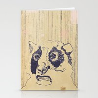 Bear Lip  Stationery Cards