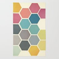 Rug featuring Honeycomb II by Cassia Beck