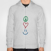 Peace, Love, and Happiness Hoody