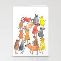 Dog Pyramid Stationery Cards