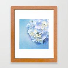 BLUE HYDRANGEA LOVE Framed Art Print
