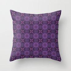 Dark purple quilt pattern Throw Pillow