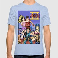 Double Dragon II Mens Fitted Tee Tri-Blue SMALL
