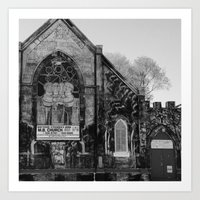 Abandoned Church in Chicago Art Print