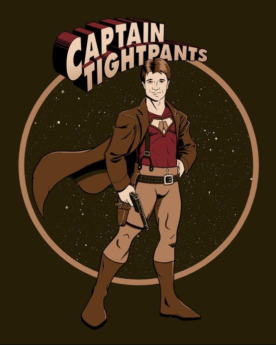 Captain Tightpants Art Print