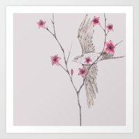 Flying Through The Bloss… Art Print
