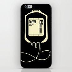 Coffee Transfusion - Black iPhone & iPod Skin